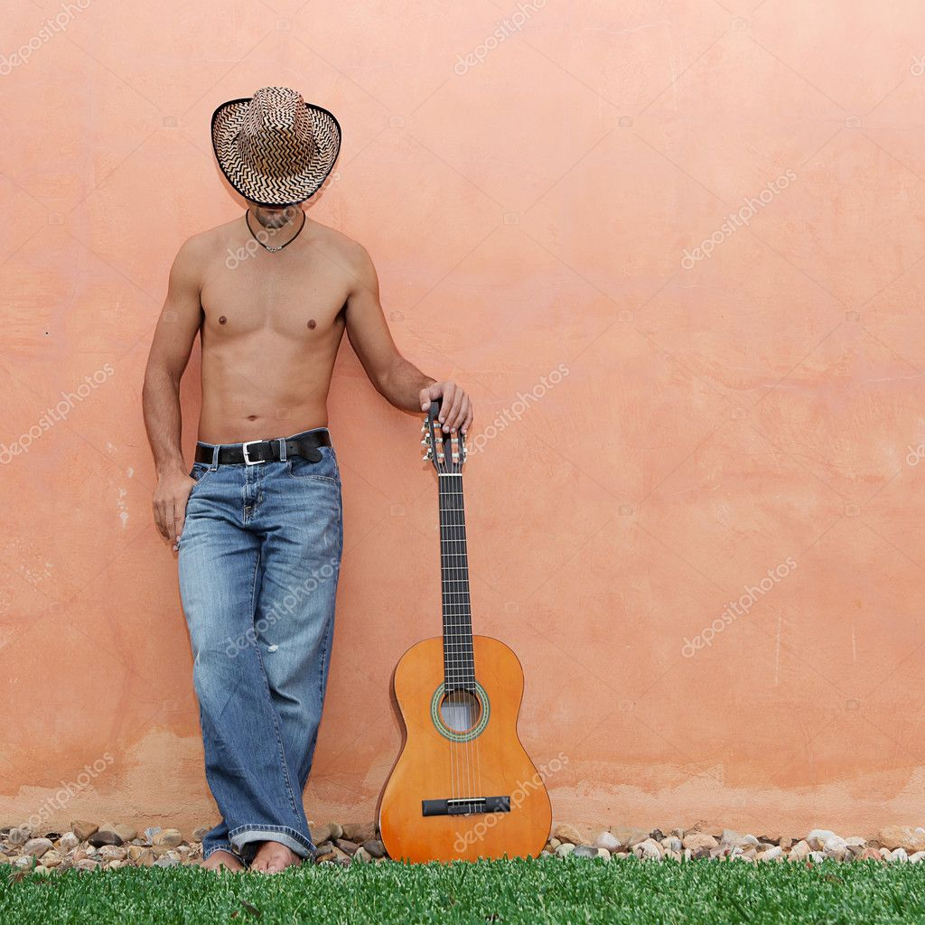 Hispanic man with guitar