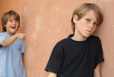 School bully, child being bullied in playground