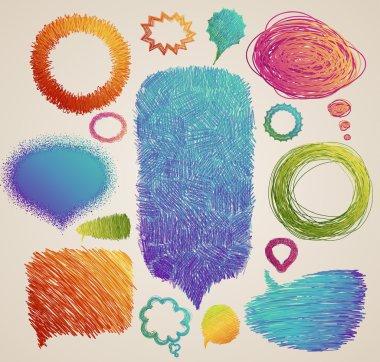 colorful hand drawn speech