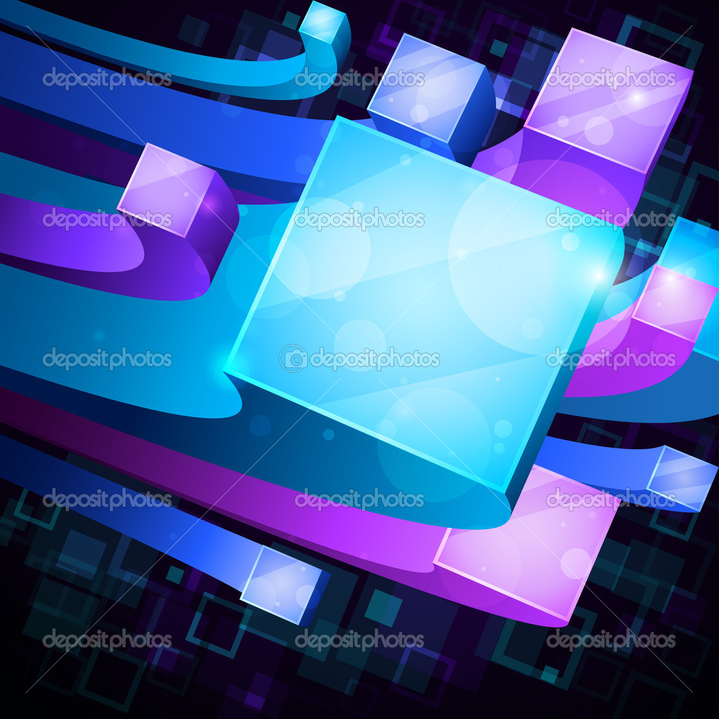 Background image 8841 - 3d Bright Abstract Background Stock Illustration