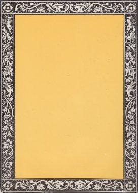 Vintage border frame - grungy copyspace design background brown
