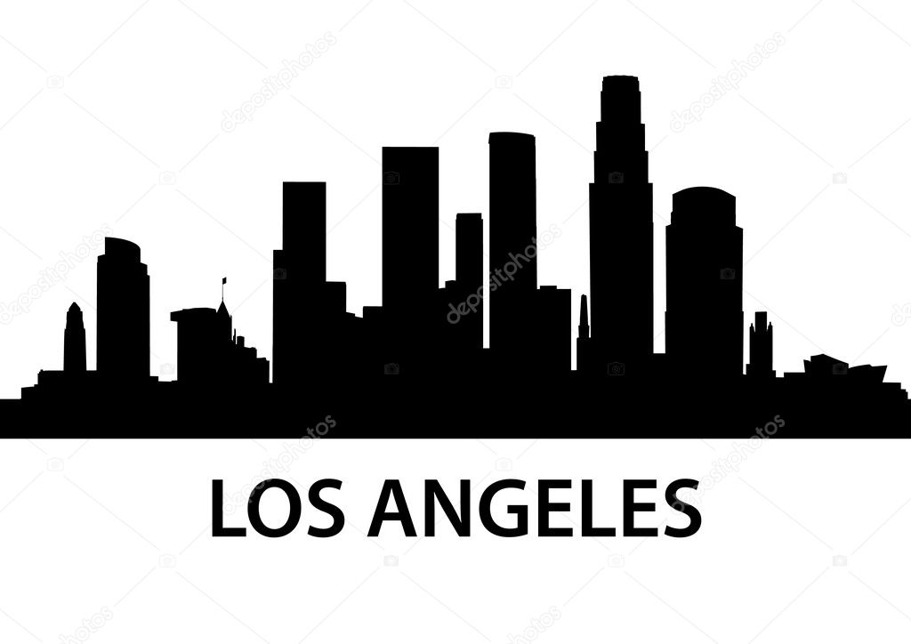 skyline los angeles ⬇ vector image by © unkreatives | vector stock 5709286  depositphotos