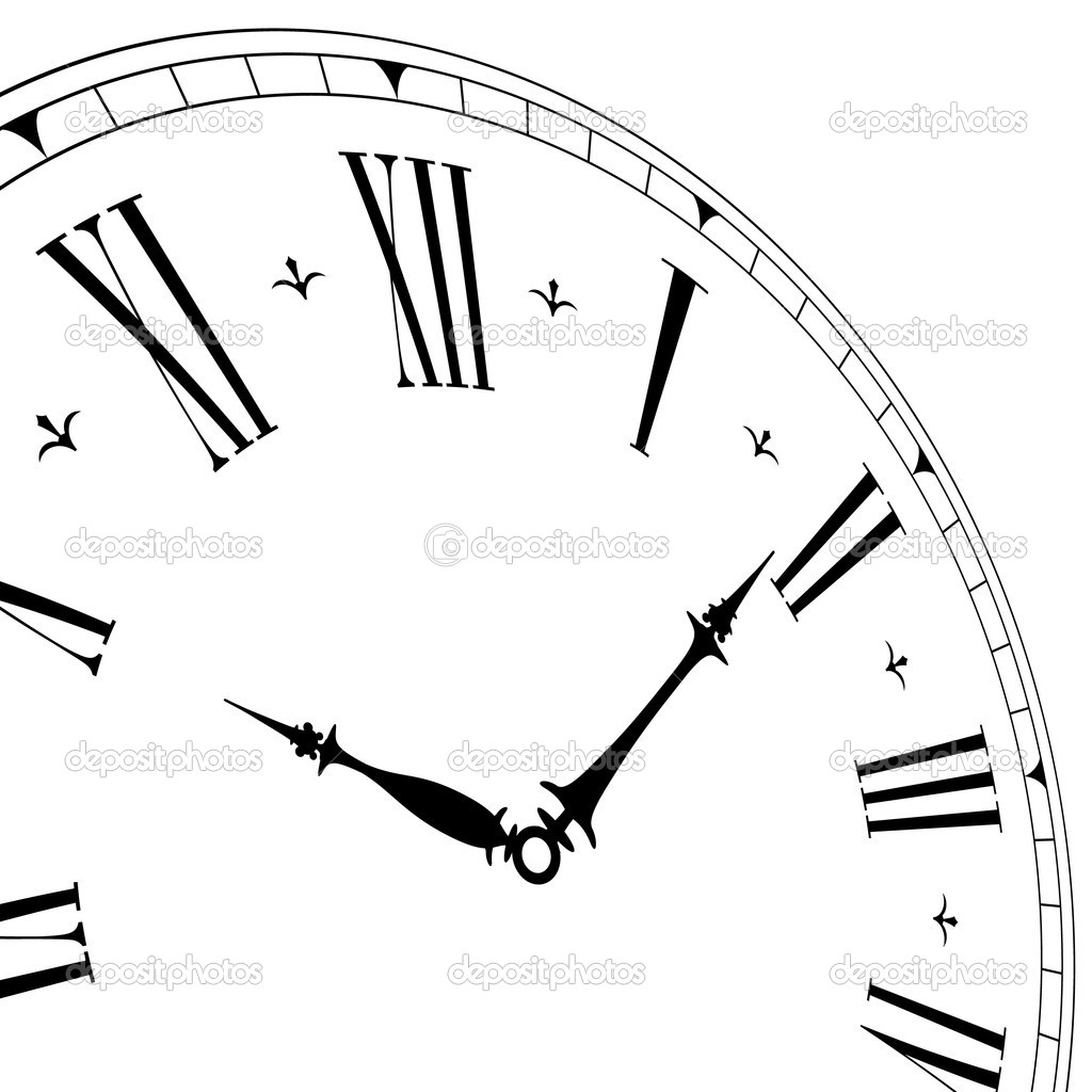 Old Fashioned Clock Drawings