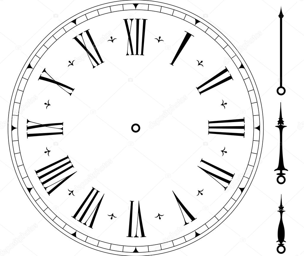 old clock face stock vector unkreatives 6223977. Black Bedroom Furniture Sets. Home Design Ideas