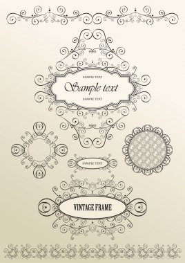 Vector ornate vintage frames
