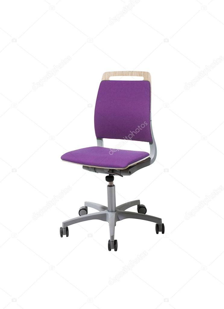 Sedie Da Ufficio Rosa.Immagine Di Una Sedia Da Ufficio Rosa Isolata Su Sfondo Bianco