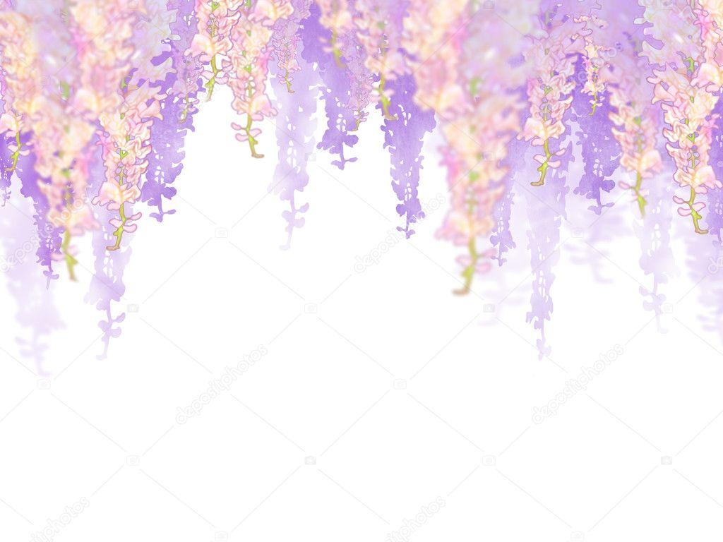 Garlands of pink flowers
