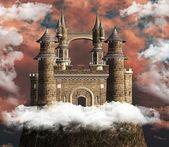 Fotografie Ancient castle over an hill