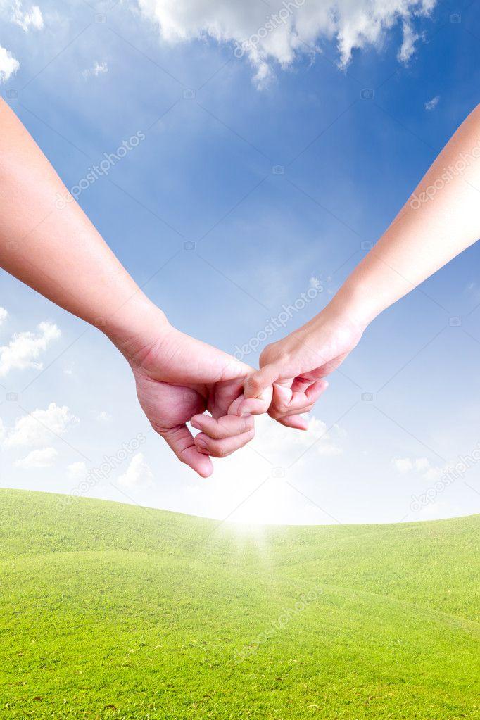 kéz összekapcsolása