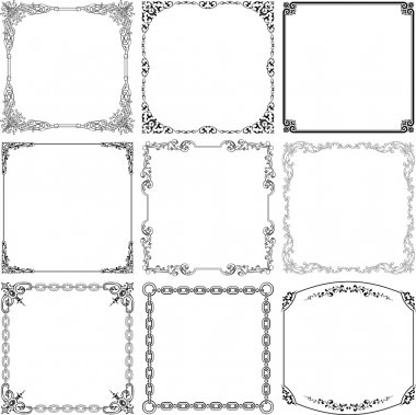 Vector decorative frames on white background stock vector
