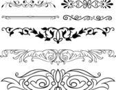Fotografie eleganci vektor květinové ornamenty
