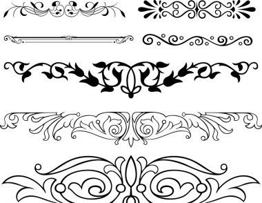 Elegance vector floral ornaments