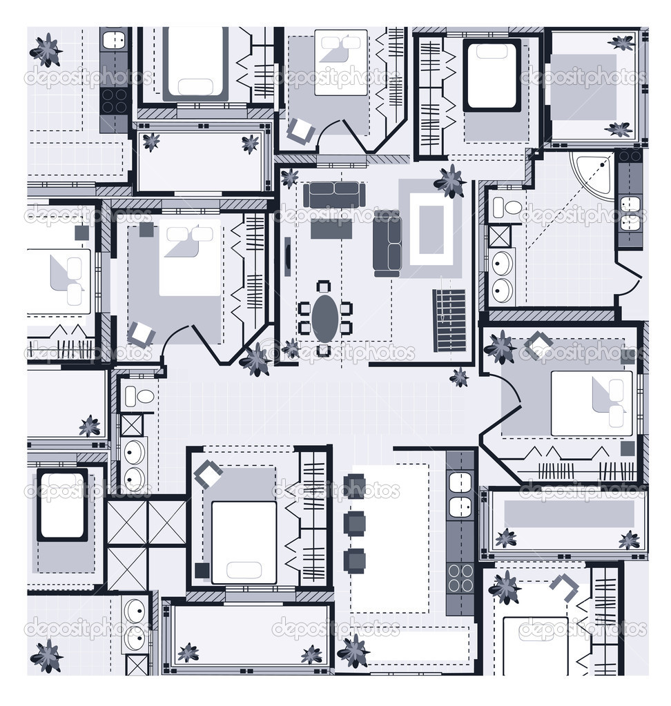 47 358 House Plan Vector Images Free Royalty Free House Plan Vectors Depositphotos