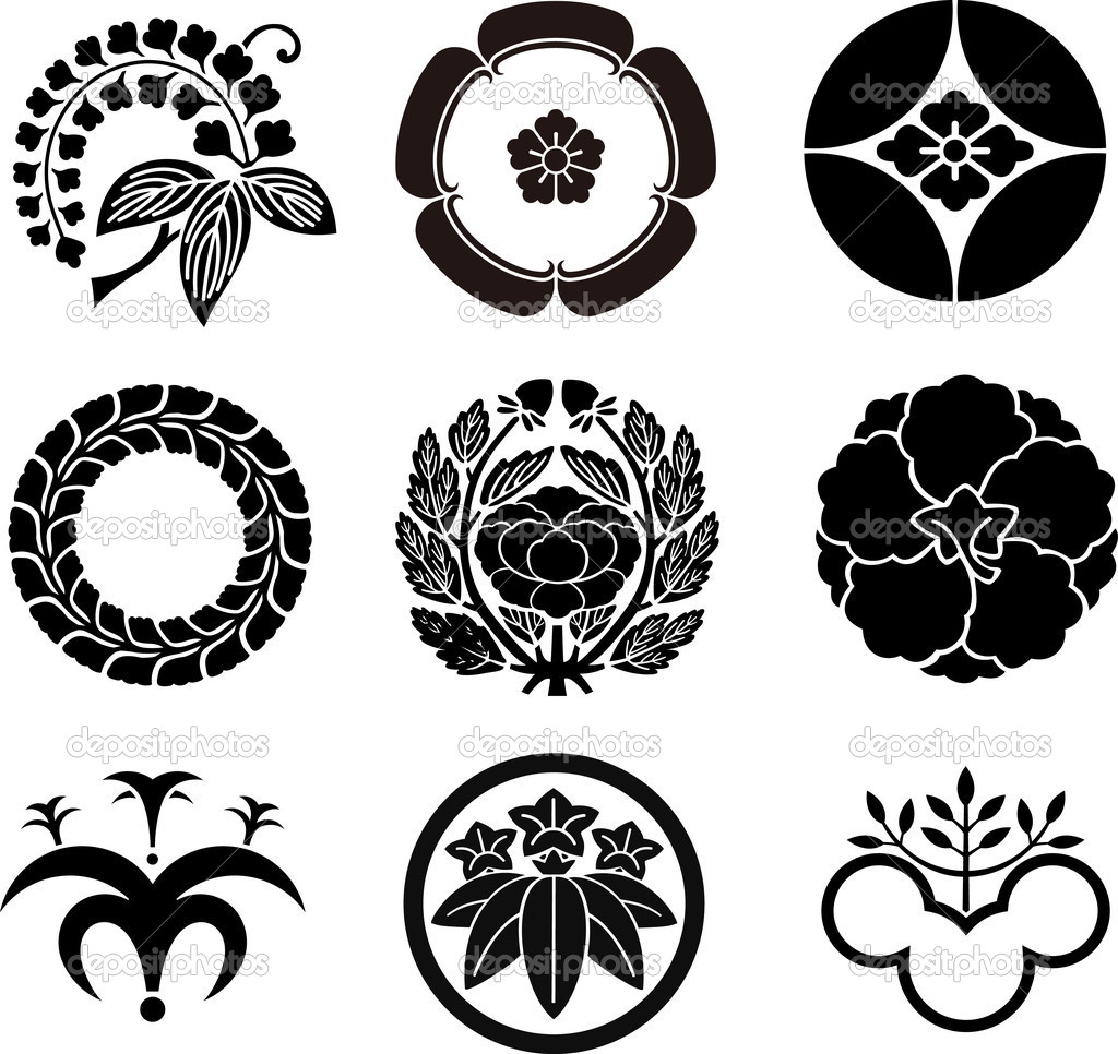 Japanese family crests 5 stock vector aryunet 5457425 japanese family crests 5 stock vector biocorpaavc
