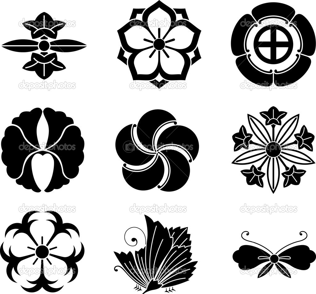 Japanese family crests 8 stock vector aryunet 5457430 japanese family crests 8 stock vector biocorpaavc Gallery