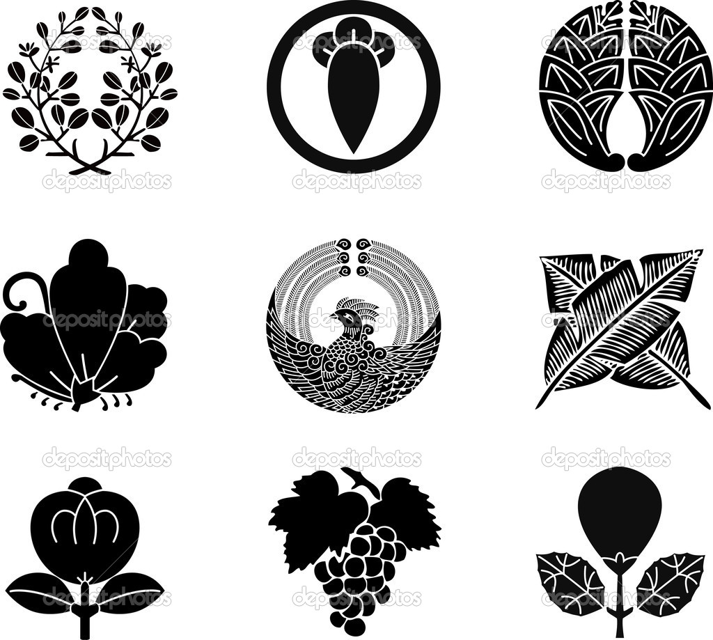 Japanese family crest stock vectors royalty free japanese family japanese family crests 15 stock illustration buycottarizona