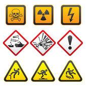 symboly varování - nebezpečí znamení první sada