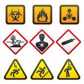 symboly varování - nebezpečí znamení druhá sada