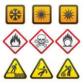 symboly varování - nebezpečí znamení třetí sada