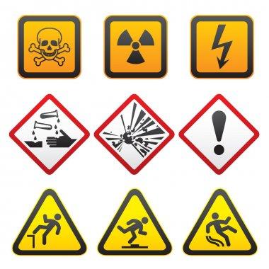 Warning symbols - Hazard Signs-First set