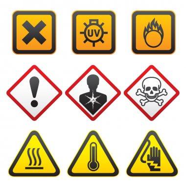 Warning symbols - Hazard Signs-Forth set