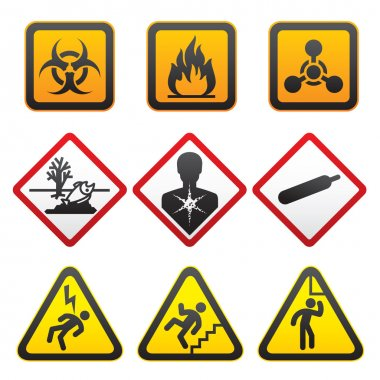Warning symbols - Hazard Signs-Second set