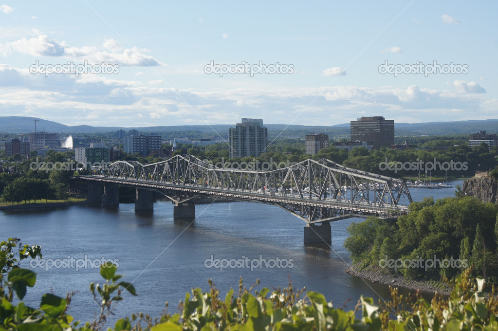 Bridge from Ottawa to Gatineau, QC