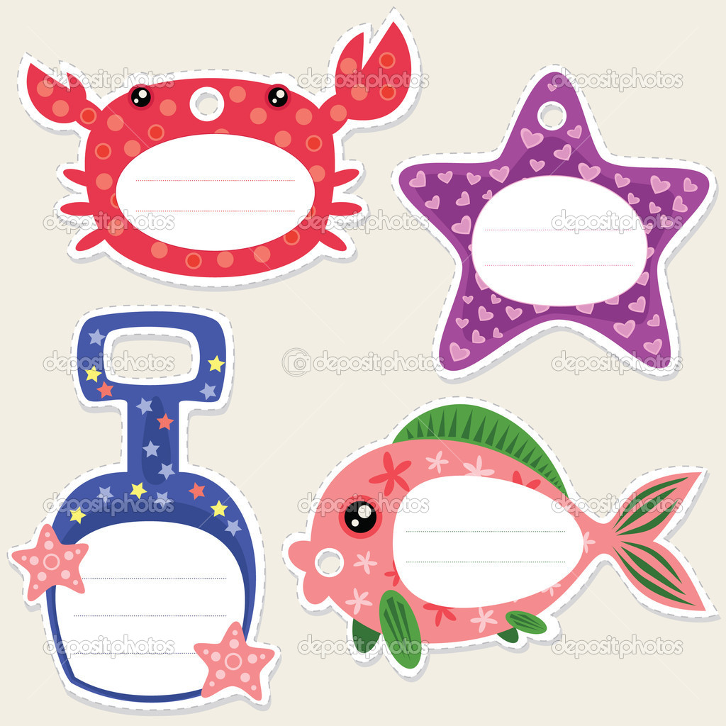 Seaside gift tags