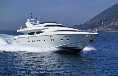 Italy, S.Felice Circeo, luxury yacht Rizzardi Posillipo Technema 95