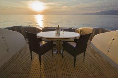 Italy, Tuscany, Viareggio, Tecnomar Velvet 83 luxury yacht