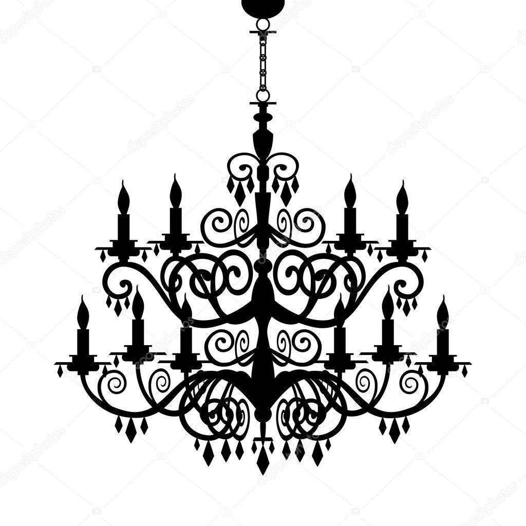 Baroque chandelier silhouette stock vector elakwasniewski 5427644 baroque chandelier silhouette stock vector aloadofball Images