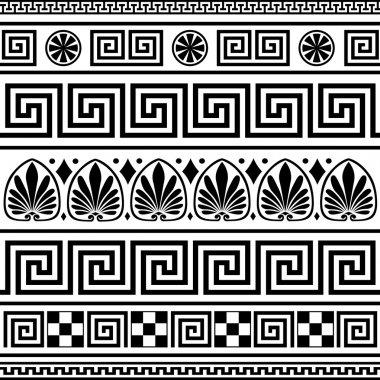 Set of vector greek ornaments