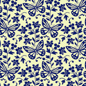 Photo Vector butterflies seamless pattern