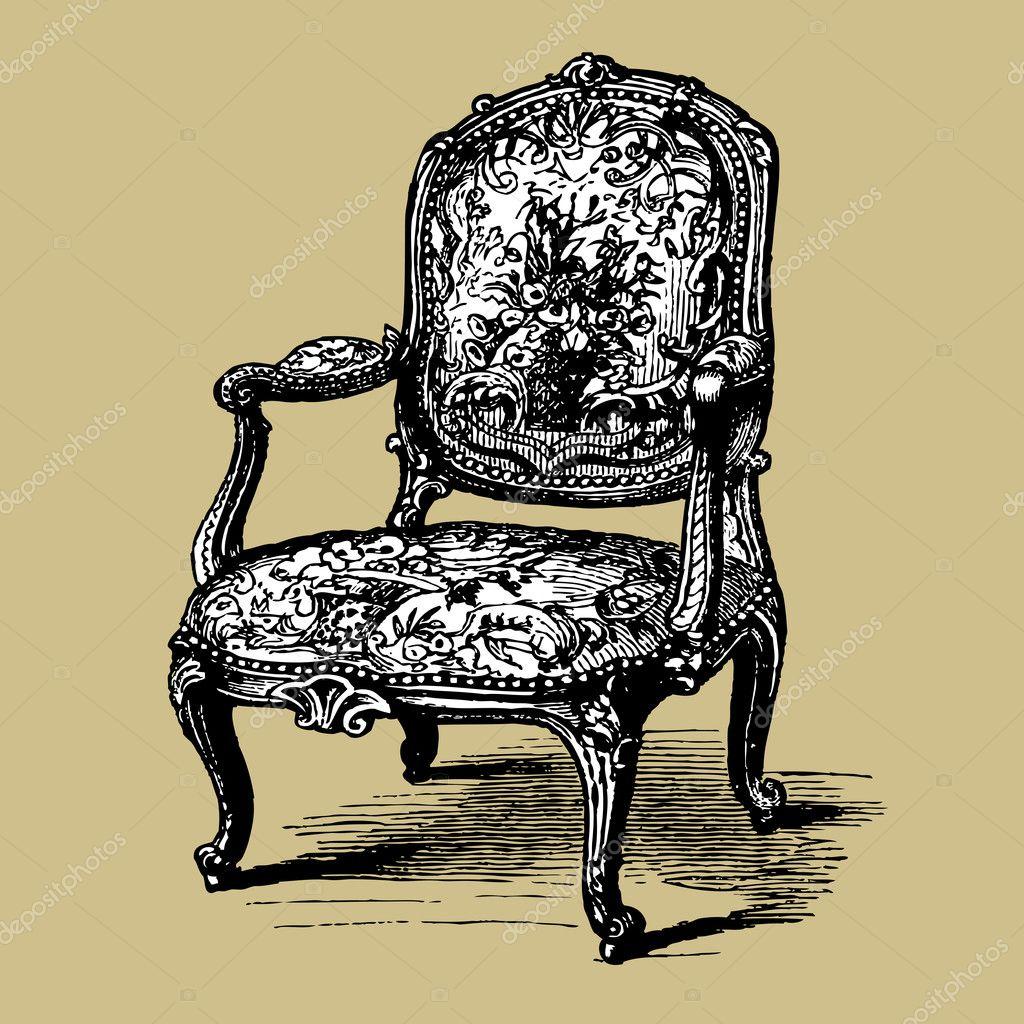 Antike Barock Sessel Stockvektor Elakwasniewski 6293457