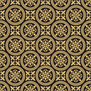 Oriental seamless pattern, antique repeat background, full scalable vector graphic, change the colors as you like clip art vector