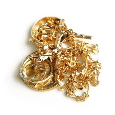 Golden jewelery