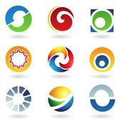 abstraktní ikony pro písmeno o