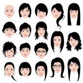 Fotografie Frau weibliche Gesichtsfrisur