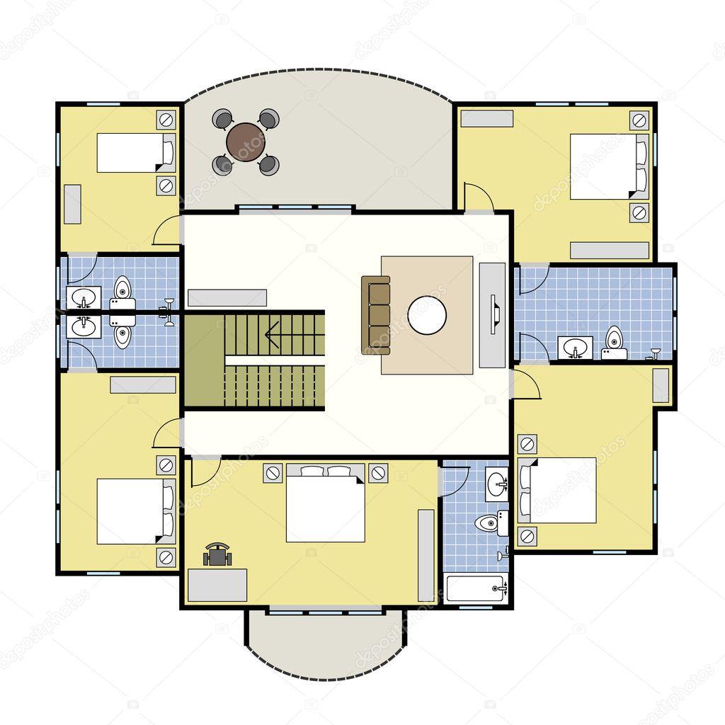 Grundriss Architektur Plan Haus Stockvektor C Leremy 5476072