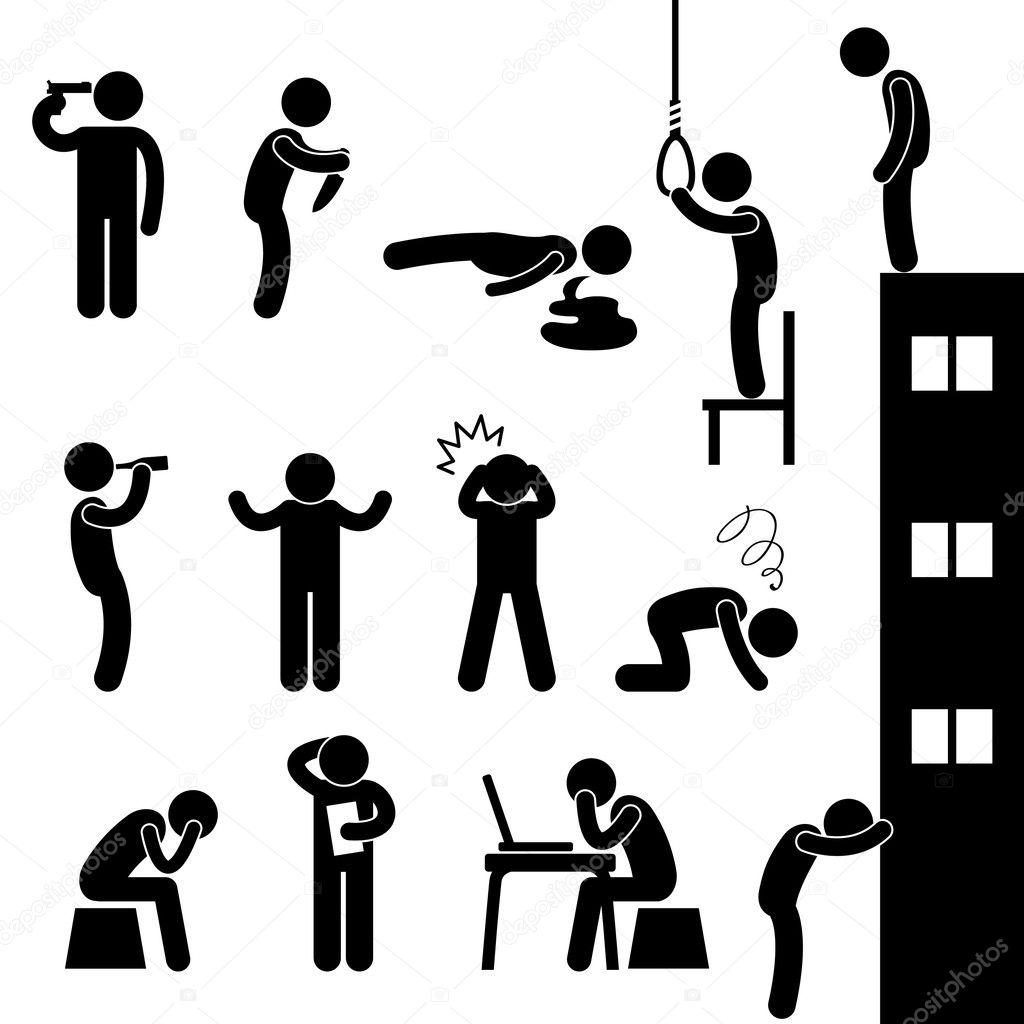 Man Suicide Kill Desperate Death Stress Sad