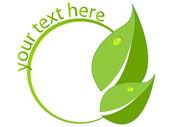 Fotografia foglie verde logo