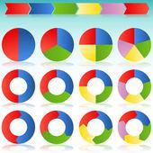 Fotografia diapositiva di icona freccia circolare colorato processo