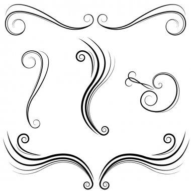 Elegant Swirl Design Elements