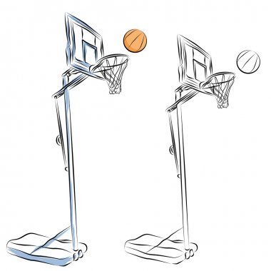 Basketball Hoop Stand Line Drawing