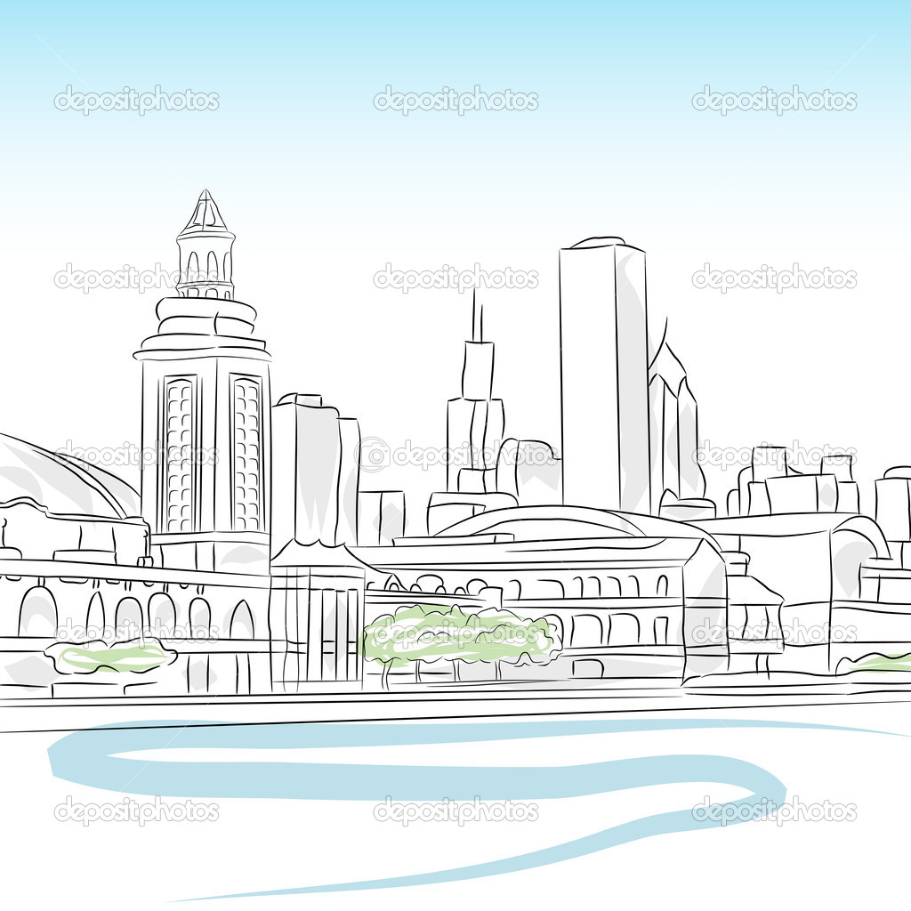 Downtown Skyline of Chicago