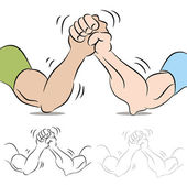 Fotografie zwei arm wrestling
