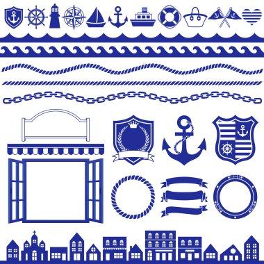 Marine decoration icons