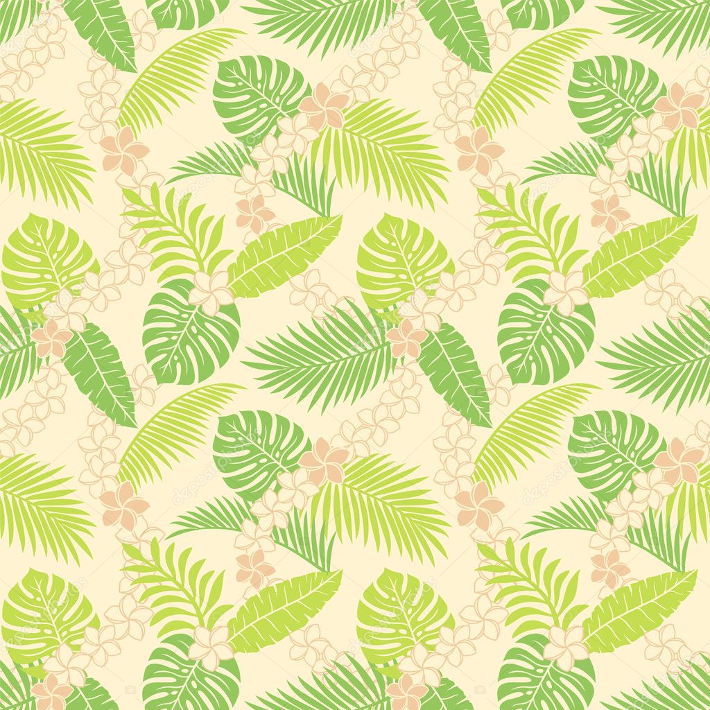 Summer leaf pattern