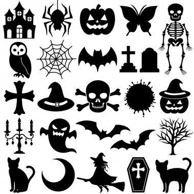 Halloween illustration icons