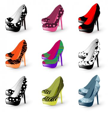 High heel woman shoes